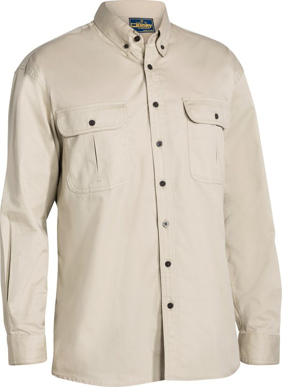 Picture of Bisley Workwear-BS6255-Mini Twill Shirt Long Sleeve