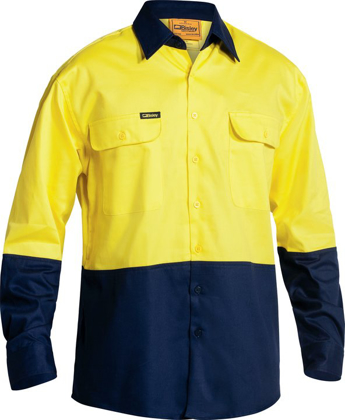 Picture of Bisley Workwear-BS6267-Hi Viz  Drill Shirt Long Sleeve