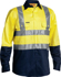Picture of Bisley Workwear-BS6267T-3M Taped Hi Vis Drill Shirt Long Sleeve
