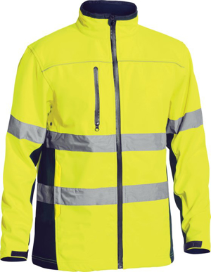 Picture of Bisley Workwear-BJ6059T-Taped Hi Vis Soft Shell Jacket