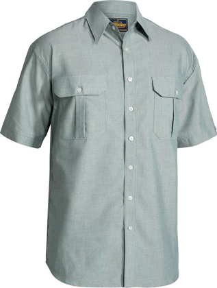 Picture of Bisley Workwear-BS1030-Oxford Shirt Short Sleeve