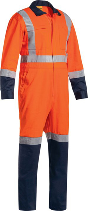 Picture of Bisley Workwear-BC6029T-Taped Ttmc-W Lightweight Hi Vis Drill Coverall