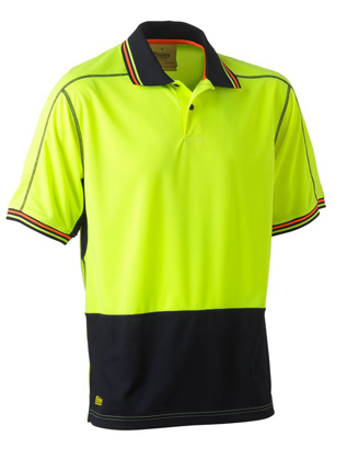 Picture of Bisley Workwear-BK1219-Hi Vis Polyester Mesh Polo Short Sleeve
