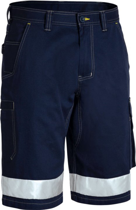 Picture of Bisley Workwear-BSHC1432T-3M Taped Cool Vented Lightweight Cargo Short