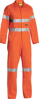 Picture of Bisley Workwear-BC607T8-3M  Taped Hi Vis Drill Coverall