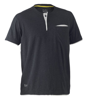Picture of Bisley Workwear-BK1932-Flex & Move™ Cotton Henley Tee Short Sleeve