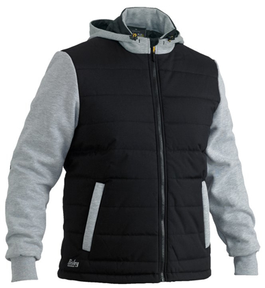 Picture of Bisley Workwear-BJ6944-Flex & Move™ Contrast Puffer Fleece Hooded Jacket
