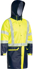 Picture of Bisley Workwear-BJ6935HT-Taped Hi Vis Stretch Pu Rain Coat With Concealed Hood (Waterproof)