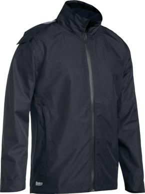 Picture of Bisley Workwear-BJ6926-Lightweight Mini Ripstop Rain Jacket With Concealed Hood (Waterproof)
