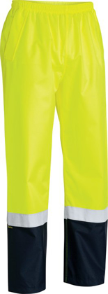 Picture of Bisley Workwear-BP6965T-Taped Hi Vis Rain Shell Pant