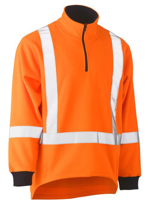 Picture of Bisley Workwear-BK6249XT-Taped Ttmc-W Hi Vis Polar Fleece Jumper With X Back