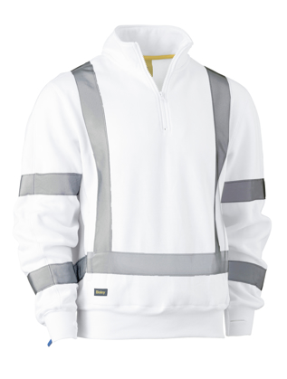 Picture of Bisley Workwear-BK6321XT-X Taped 1/4 Zip Pullover
