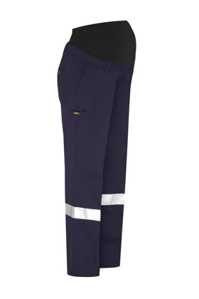 Picture of Bisley Workwear-BPLM6009T-Womens 3M Taped Maternity Drill Work Pant