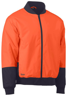 Picture of Bisley Workwear-BJ6730-Two Tone Hi Vis Bomber Jacket