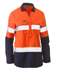 Picture of Bisley Workwear-BLC6064T-Womens Taped Hi Vis Stretch V-Neck Shirt