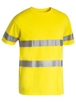 Picture of Bisley Workwear-BK1017T-3M Taped Hi Vis Cotton T-Shirt Short Sleeve