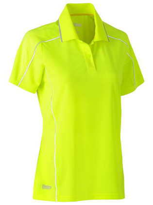 Picture of Bisley Workwear-BKL1425-Womens Cool Mesh Polo Shirt