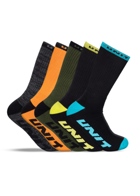 Picture of Unit Workwear-189133002-MENS SOCKS - HI LUX - 5 PACK - QUANTUM