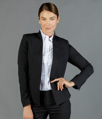 Picture of Gloweave-1721WJ-WOMEN'S CROP JACKET - ELLIOT WASHABLE SUITING