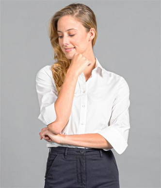 Picture of Gloweave-1520WZ-WOMEN'S PREMIUM POPLIN 3/4 SLEEVE SHIRT-NICHOLSON
