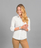 Picture of Gloweave-1743WZ-WOMEN'S DOT PRINT 3/4 SLEEVE SHIRT -SOHO
