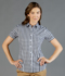 Picture of Gloweave-1710WHS-WOMEN'S OXFORD CHECK SHORT SLEEVE SHIRT - DEGREAVES