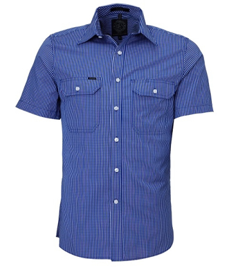 Picture of Ritemate Workwear-RMPC009S-Men's S/S Shirt, Double Pockets
