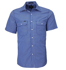 Picture of Ritemate Workwear-RMPC010S-Men's S/S Shirt, Double Pockets
