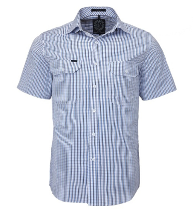 Picture of Ritemate Workwear-RMPC011S-Men's S/S Shirt, Double Pockets