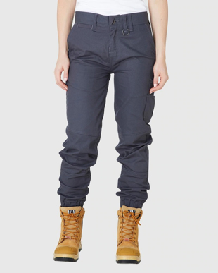 Picture of ELWD Workwear-EWD507-WOMENS REFLECTIVE CUFFED PANT