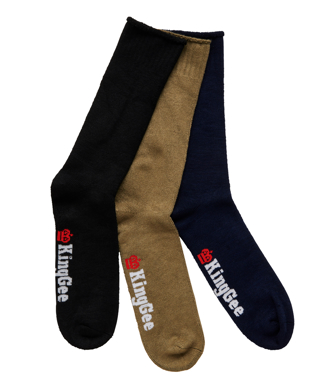 Picture of King Gee-K09271-Men's 3 Pack Bamboo Work Socks
