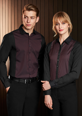 Picture of Biz Collection-S414ML-Mens Reno Panel Long Sleeve Shirt