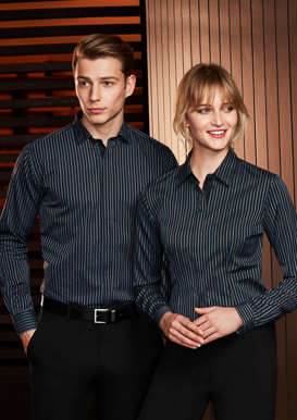Picture of Biz Collection-S415LL-Ladies Reno Stripe Long Sleeve Shirt