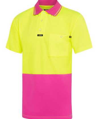 Picture of Visitec-V1036-Short Sleeve Microfibre Pink Polo