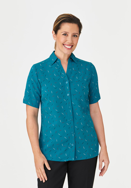 Picture of City Collection-2192-Drift Print Short Sleeve Shirt