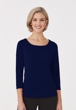 Picture of City Collection-2290-Smart Knit 3/4 Sleeve Blouse