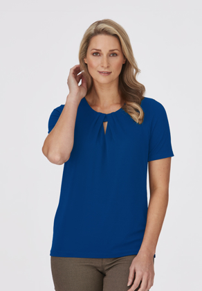 Picture of City Collection-2295-The Keyhole Knit Short Sleeve