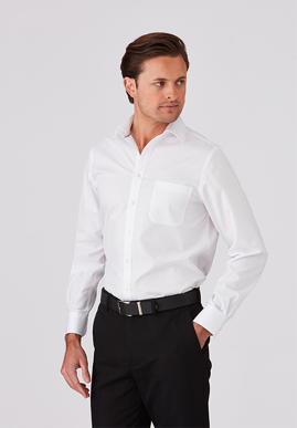 Picture of City Collection-4200 LS-Super Fine Twill Shirt Mens Long Sleeve Shirt