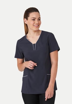 Picture of City Collection-2280-4 Way Stretch Short Sleeve Tunic