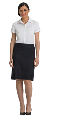 Picture of Corporate Comfort-FSK29-992-Sorbtek Ladies Knee Length Box Pleat Skirt