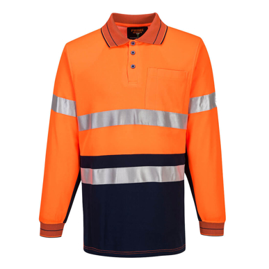 Picture of Prime Mover-MP313-Long Sleeve Cotton Comfort Polo With Tape