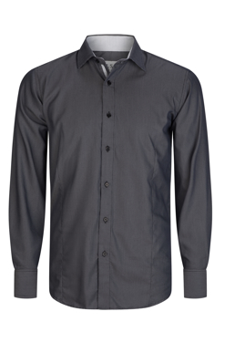 Picture of LSJ Collections-2044L-NW-Long sleeve Classic fit Shirt with contrast inner collar & cuff