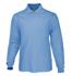 Picture of Bocini-CP1604-Plain Colour Poly Face Cotton Backing L/S Polo
