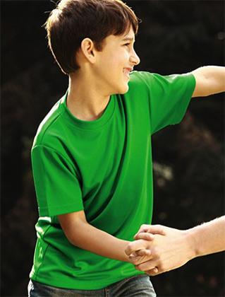 Picture of Bocini-CT1208-Kids Plain Breezeway Micromesh Tee Shirt
