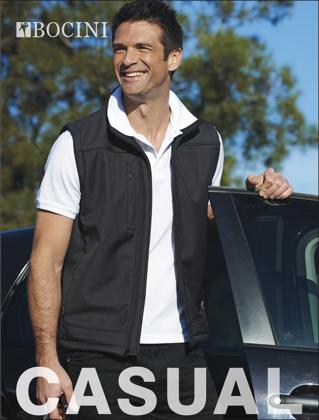 Picture of Bocini-CJ1303-Men's Soft Shell Vest