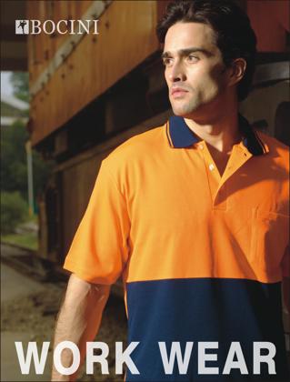 Picture of Bocini-SP0538-Unisex Adults Hi-Vis Polyface / Cotton Back Polo - S/S