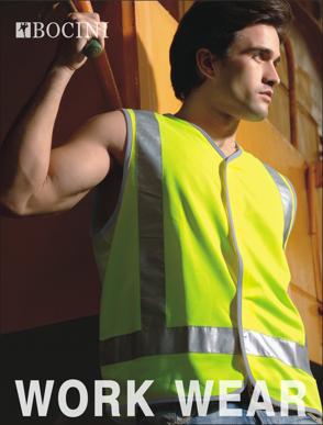 Picture of Bocini-SJ0322-Unisex Adults Hi-Vis Vest With Reflective Tape