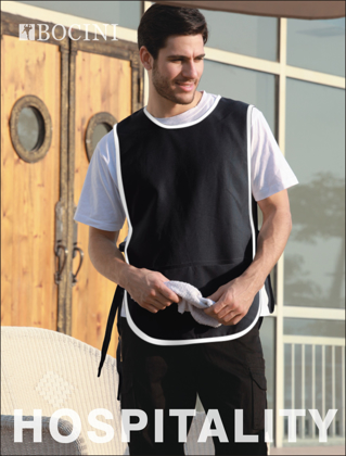 Picture of Bocini-WA0676-Polyester Drill Popover Apron - With Pocket