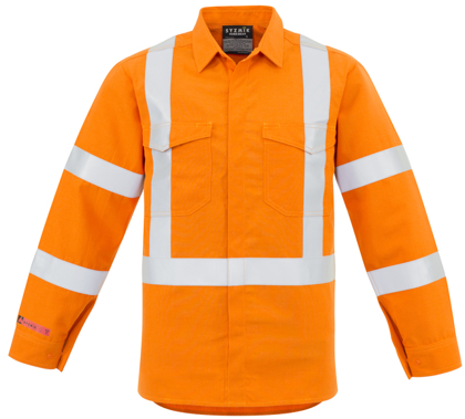 Picture of Syzmik-ZW137-Mens X Back Taped Shirt