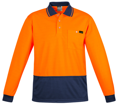 Picture of Syzmik Workwear-ZH410-Mens Comfort Back L/S Polo